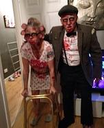 Zombie Gran and Grandad Couple Homemade Costume