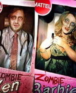 Zombie Ken and Zombie Barbie Homemade Costume