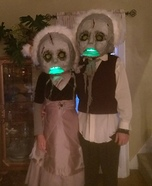 Zombie Kids Couple Homemade Costume