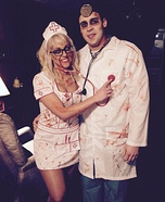 Zombie Nurse and Doctor Homemade Costume
