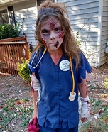 Zombie Nurse Scrape Homemade Costume