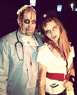 Zombie Doctor and Nurse Couple Costume