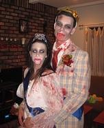 Zombie Prom King & Queen Homemade Costume