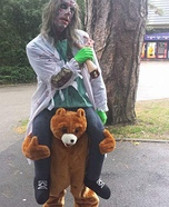 Zombie riding a Bear Homemade Costume