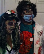 Scary Halloween costume ideas - Zombie Surgeon & Nurse Costumes