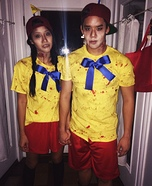 Zombie Tweedle Dee and Tweedle Dum Homemade Costume