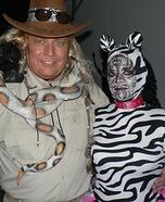 Zebra and Zoo Keeper Couples Costume