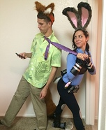 Zootopia Nick and Judy Hopps Homemade Costume