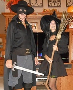 Zorro and the Witch Homemade Costume