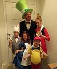 Creative DIY Alice in Wonderland Family Costume