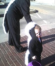 Animal costume ideas for babies - Baby Skunk and Mommy Skunk Costumes