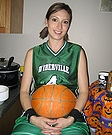 Halloween Costume with Belly Pained as Basketball Ball