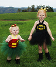 Batgirl and Robin Homemade Baby Costumes