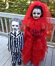 Beetlejuice and Lydia Homemade Costumes