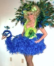 Animal costume ideas for adults - Peacock and Flamingo Costumes