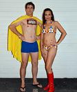 Captain Lego and Lego Bikini Homemade Costume