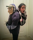 Carried in a Backpack Homemade Illusion Costume
