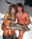 Cave Man and Cave Girl Sexy Homemade Costume