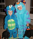 Homemade Cuddle Monster costumes