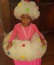 DIY Cupcake Girl's Halloween Costume