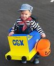 Daddy's CSX Train Homemade Costume