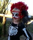 Day of the Dead Skeleton Girl Homemade Costume