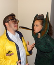 Funny movie costume ideas - Dilophosaurus and Dennis Nedry Costume