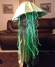 Electric Green Jellyfish Homemade Costume