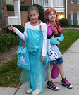 Elsa and Anna from Frozen Homemade Costume