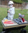 Exterminator and Mouse Trap Homemade Costume