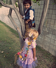 Homemade Flynn Rider and Rapunzel Costumes