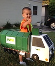 Homemade Garbage Man with Truck Costume