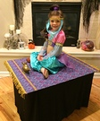 Genie on her Magic Carpet Homemade Costume