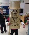 DIY Gold Lego Man Costume