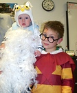 Hedwig the Owl and Harry Potter Costume
