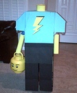 Headless Lego Guy Homemade Costume