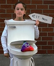 Interactive Toilet With Flushing Sound Costume