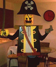 Homemade Lego Pirate Adult Costume