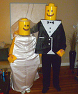 Lego Bride and Groom Homemade Costumes