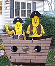 Homemade Lego Pirate Ship and Pirate Costumes