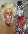 Animal costume ideas for adults - Lion and Zebra Halloween Costume