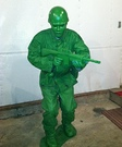 Little Green Army Soldier Homemade Costume