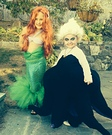 Little Mermaid and Ursula Homemade Costumes