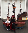 Little Pirates and their Ship Homemade Costume