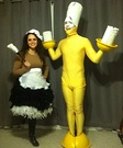 Lumiere and Babette Homemade Costume