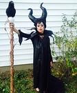 Homemade Maleficent Costume for Girl