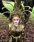 Girl's Homemade Medusa Costume