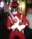 Red Mighty Morphin Power Ranger Homemade Costume