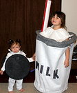 Milk and Oreo DIY Costumes