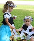 Milk Maid and Daisy Cow Homemade Costume